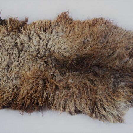 Bruin gemêleerde schapenvacht